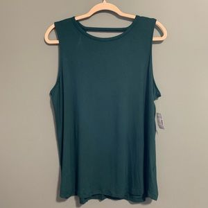 Maurice's 24/7 Jungle Teal Strappy Back Tank Top